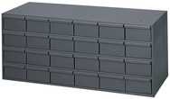 "11-5/8"" Deep - Steel - 24 Drawer Cabinet - for small part storage - Gray"