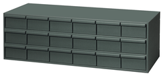 "17-1/4"" Deep - Steel - 18 Drawer Cabinet - for small part storage - Gray"