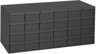"17-1/4"" Deep - Steel - 24 Drawer Cabinet - for small part storage - Gray"