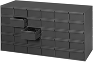 "17-1/4"" Deep - Steel - 30 Drawer Cabinet - for small part storage - Gray"