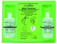 Double Eye Wash Station; 2- 16 oz Bottles; HAZ58