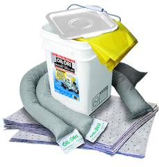 #L90435 Bucket Spill Kit--5 Gallon Bucket Contains: Socks / Perf. Pads / Disposable Bag - Absorbents