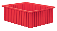 20-1/8 x 14-7/8 x 7-7/16'' - Red Akro-Grid Stackable Containers