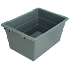 17-1/4 x 23-3/4 x 12'' - Gray Cross-Stacking Akro-Tubs