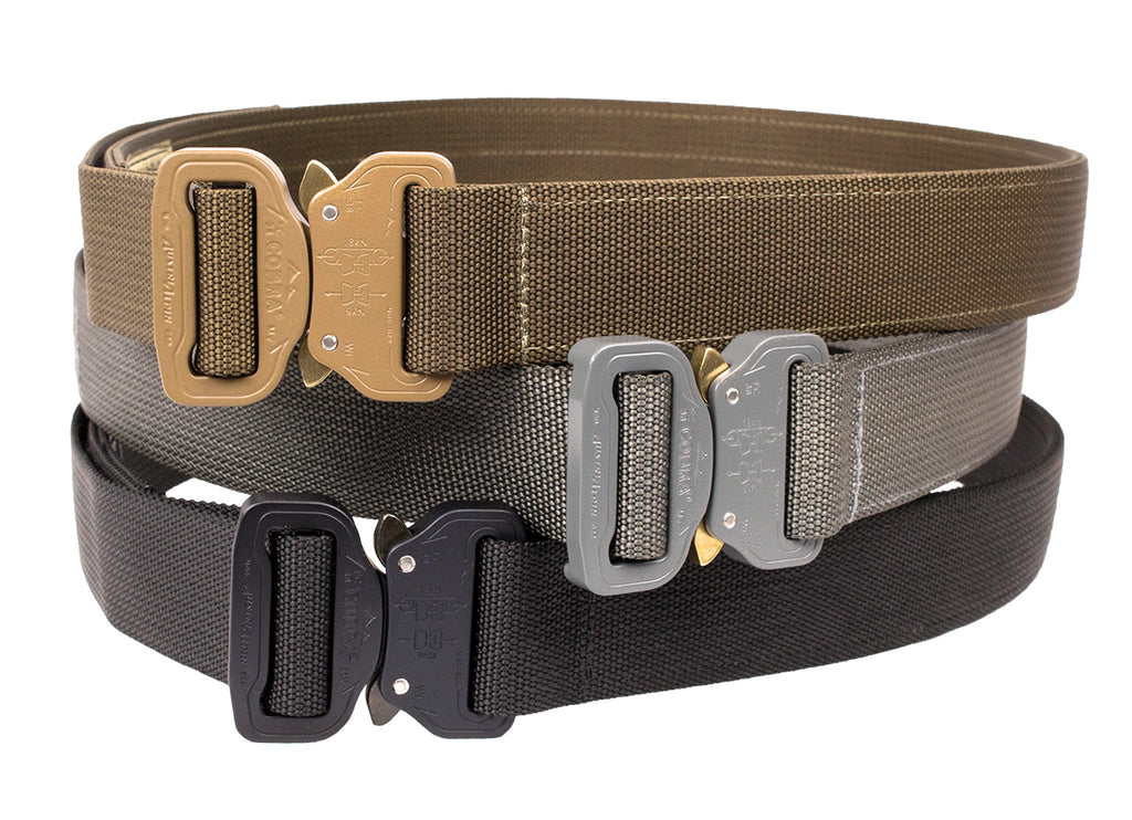 CO Shooters Belt with Cobra Buckle, Coyote, Medium