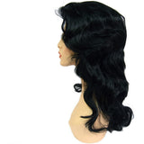 WG-049 Black Luscious Wavy Maria Wig - DisplayImporter