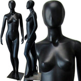 MN-144 Full Size Egg Head Female Mannequin Black - DisplayImporter.com - 2