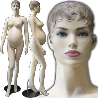 MN-219 Maternity Mannequin with Head  - DisplayImporter.com