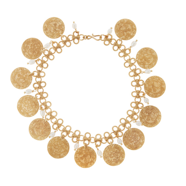 Lucky Coin Anklet BR-YP-PEARL