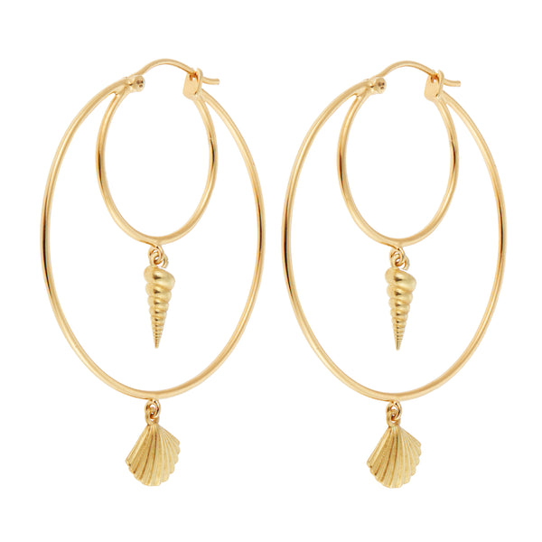 Cerith Clam Hoops BR-SLV-YP