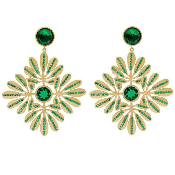 Kaleidoscope Tropical Leaves Earrings