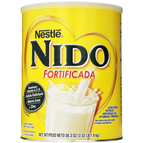 Nestle NIDO Fortificada Dry Milk 3.52 Pound Canister