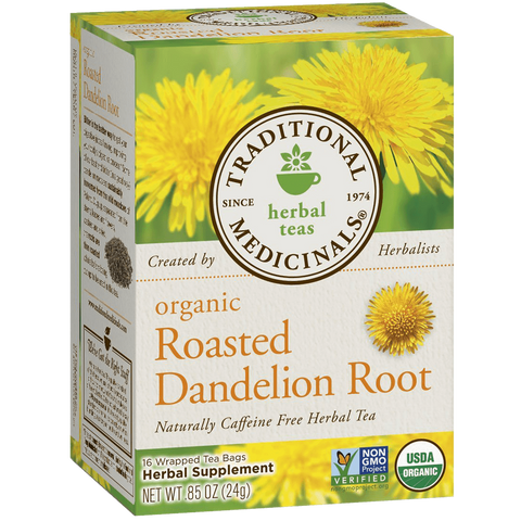 Traditional Medicinals Organic Roasted Dandelion Root 16-Count Boxes