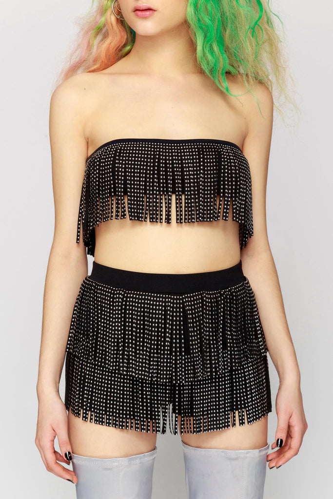 Stud Fringe Crop Top