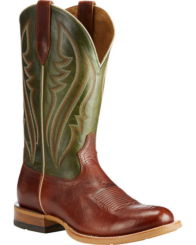 Ariat Cognac Quickdraw Collection Men's Leather Boots