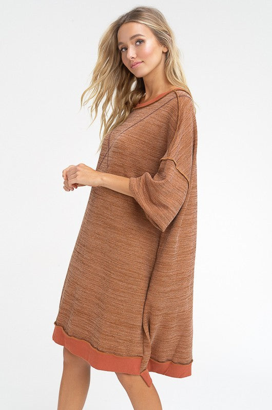 Listicle Brick Sweatshirt Women's Dress