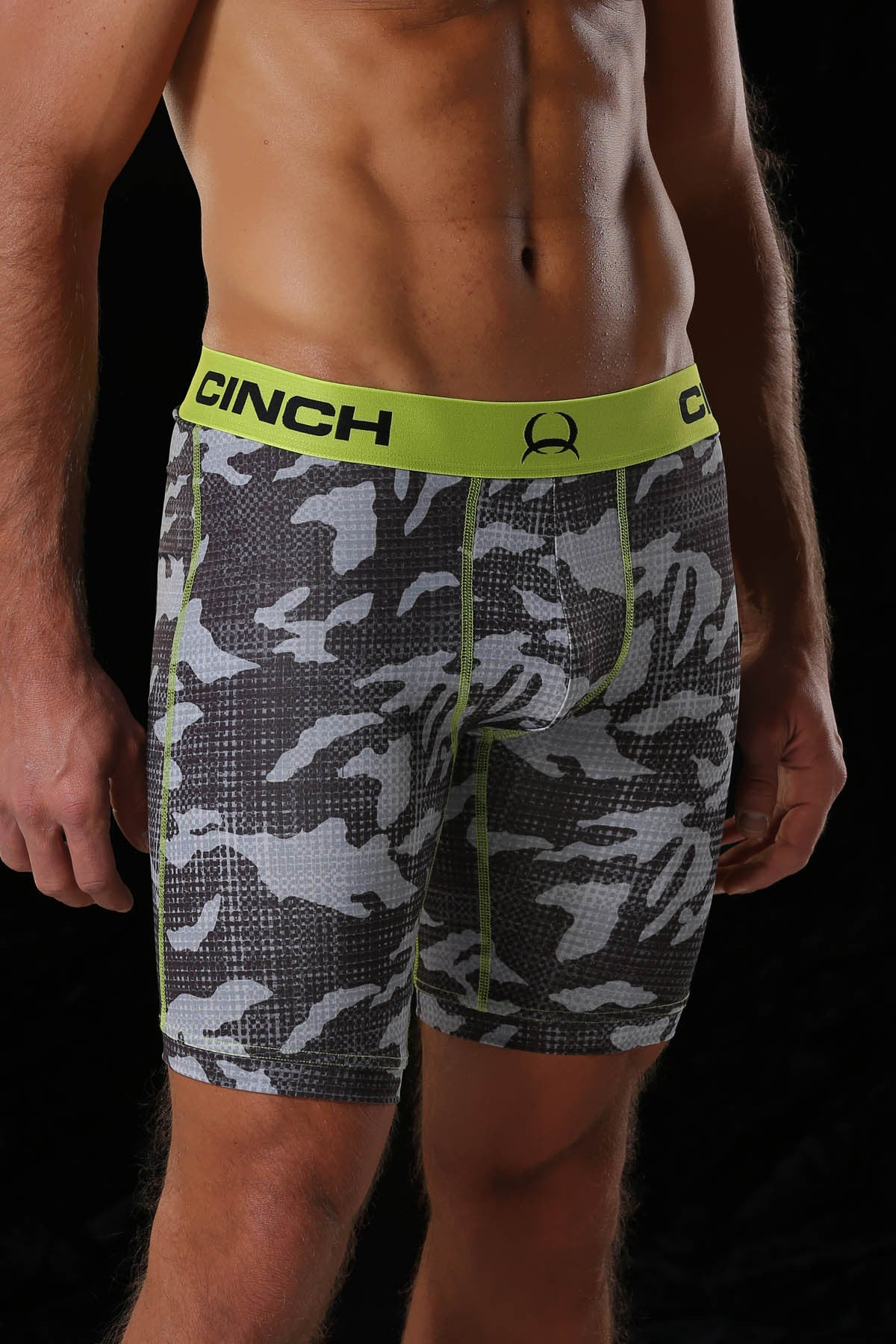 "Cinch 9"" Black Men's Boxers"