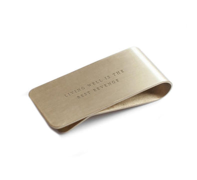 LIVING WELL BRASS MONEY CLIP