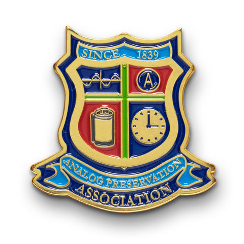 Analog Preservation Association Enamel Lapel Pin