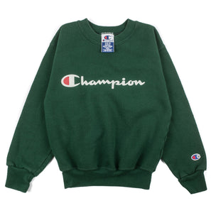Youth Forest Green Champion Crewneck