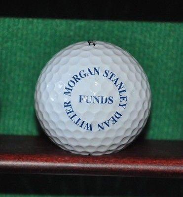 Morgan Stanley Dean Witter Funds logo golf ball. Titleist Professional 90