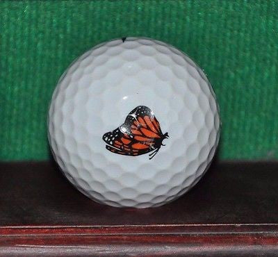 Pacific Grove Golf Links Carmel CA Monarch Butterfly logo golf ball.