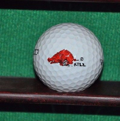 University of Arkansas Razorbacks Kill logo golf ball.