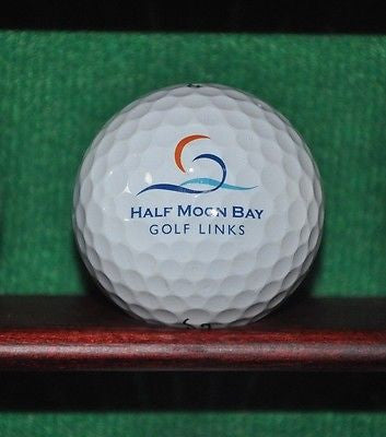 Half Moon Bay Golf Links logo golf ball. Titleist Pro V1