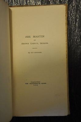 Abe Martin of Brown County. 1906 1st Edition. Rare. By Kin Hubbard.