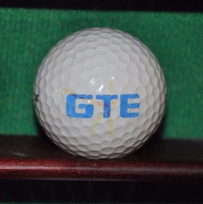 GTE Corporation logo golf ball.