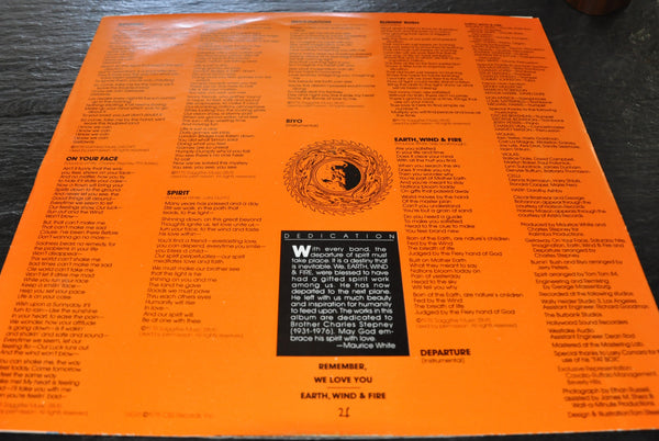 Earth Wind and Fire Spirit Vinyl LP 1976 Columbia 2 Eye VG+