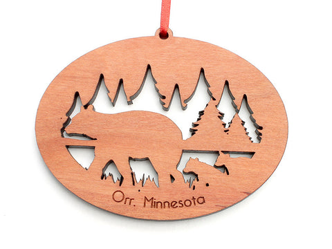 Northwoods Bear and Cubs Ornament - Nestled Pines