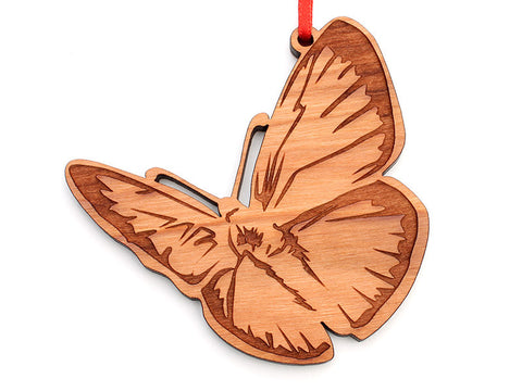 Silver Studded Blue Butterfly Ornament - Nestled Pines