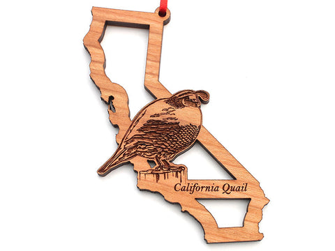 California State Bird Ornament - California Quail