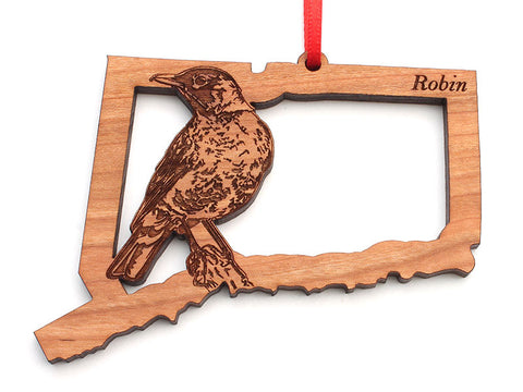 Connecticut State Bird Ornament - Robin