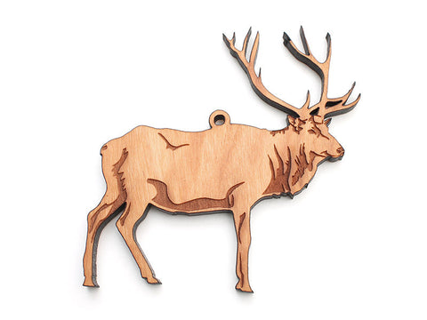 Elk Ornament C - Nestled Pines