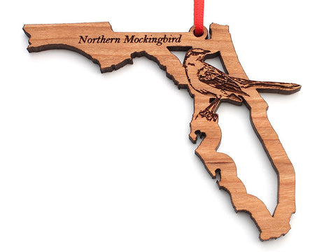 Florida State Bird Ornament - Northern Mockingbird