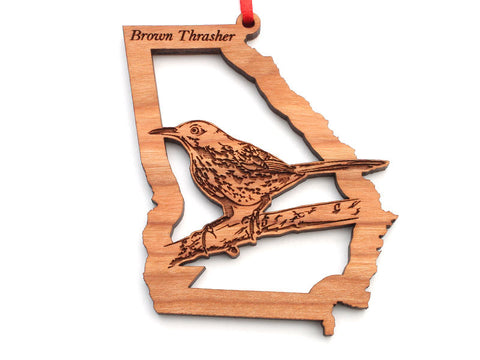 Georgia State Bird Ornament - Brown Thrasher