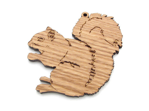 Gray Squirrel Ornament - Nestled Pines