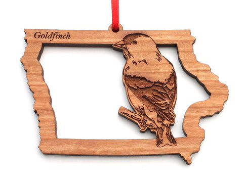 Iowa State Bird Ornament - Goldfinch