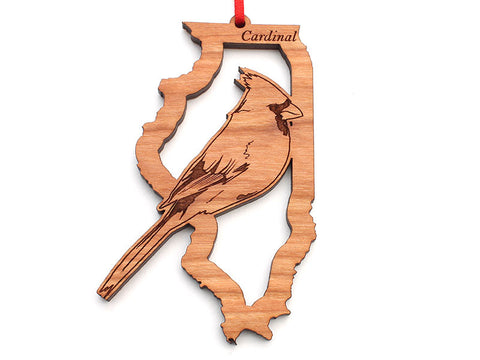Illinois State Bird Ornament - Cardinal