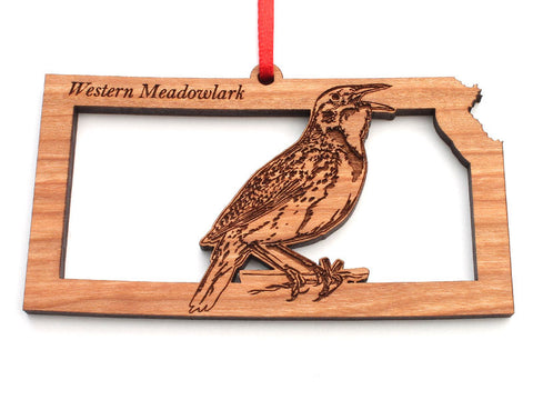 Kansas State Bird Ornament - Western Meadowlark