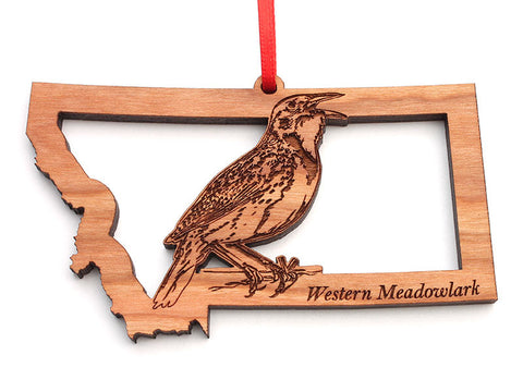 Montana State Bird Ornament - Western Meadowlark