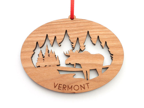 Northwoods Moose Ornament - Nestled Pines