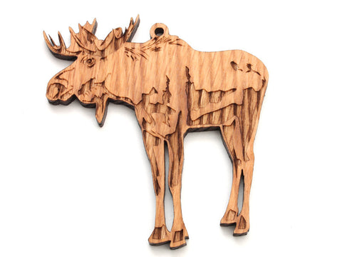Moose Ornament - Nestled Pines