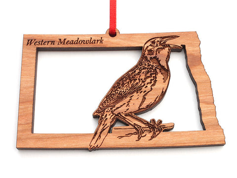 North Dakota State Bird Ornament - Western Meadowlark