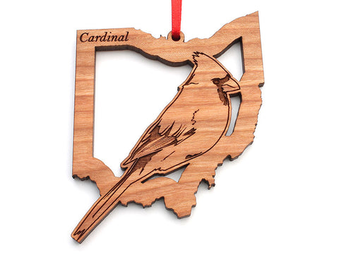 Ohio State Bird Ornament - Cardinal