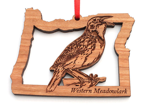 Oregon State Bird Ornament - Western Meadowlark