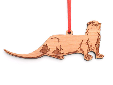 River Otter Ornament - Nestled Pines
