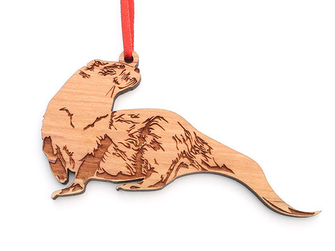 River Otter Ornament B - Nestled Pines